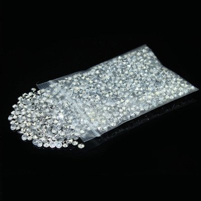 Brilliant Shop 4.5mm Acrylic Color Faux Round Diamond Crystals Treasure Gems Table Scatters, Vase Fillers, Event, Wedding, Arts & Crafts (2000 pcs) (Clear & Silver) (Silver Glass Gems)
