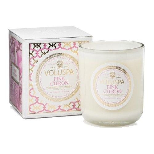 100 hour VOLUSPA 026037 Pink Citron Classic Maison Candle