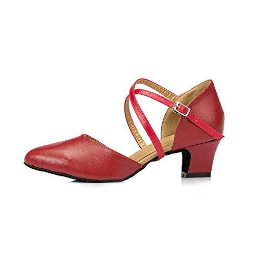 Miyoopark ,  Damen Tanzschuhe Red-4.5cm Heel