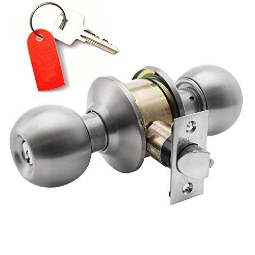 Knob Lock CB03 Communicating : Keyed Alike Cylinders On Both Sides : Bump-Pick Resistant : Cylindrical Grade 3 : Double Keyed Alike Cylinders : Yale Lock Keyway