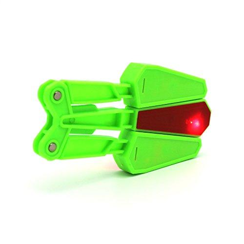 Mandarooker Flip Finz LED Finger Flip Finz Decompression Fidget Toys for Finger Exercises,Exercise Your Concentration, Coordination and Patience(Green)