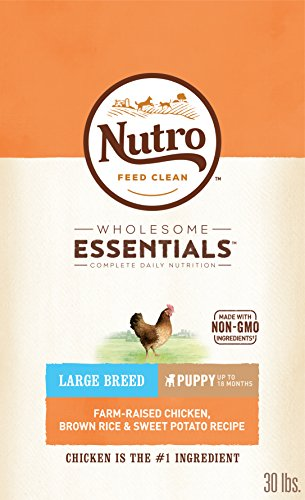 Nutro Wholesome Essentials Puppy Large Breed Dry Dog Food Farm-Raised Chicken, Brown Rice & Sweet Potato Recipe, 30 Lb. Bag