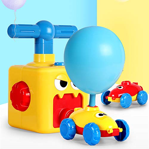 bzuitur Balloon Powered Launch Car, Balloon Air powered Vehicle Kit, Balloon Race Car Toy Creative Inflatable Balloon Pump Car, Carnival Toys Gift for Kids with 12 Balloons