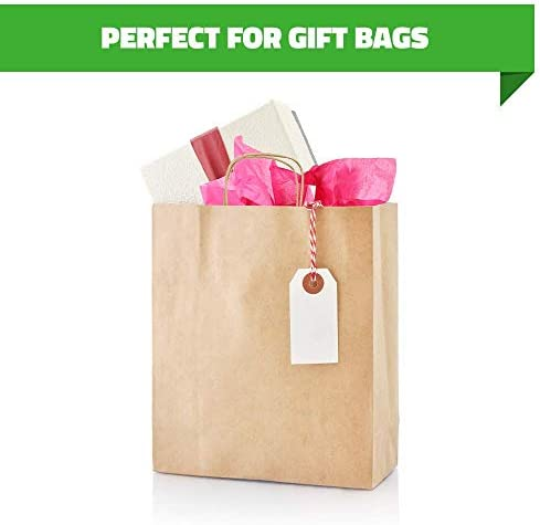 """Brown Kraft Paper Bags 250 Pcs ● 17""""x7""""x12.5""""with Handles ● Ideal for Shopping, Gift, Wedding, Party, Craft 