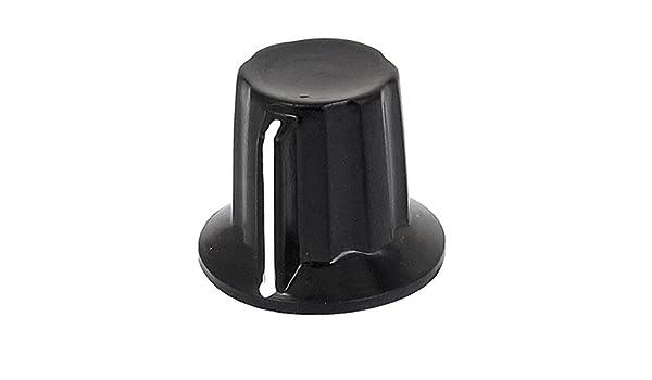 10Pcs Black Plastic Potentiometer Rotary Control Knobs Caps for 6mm Dia Shaft!HK