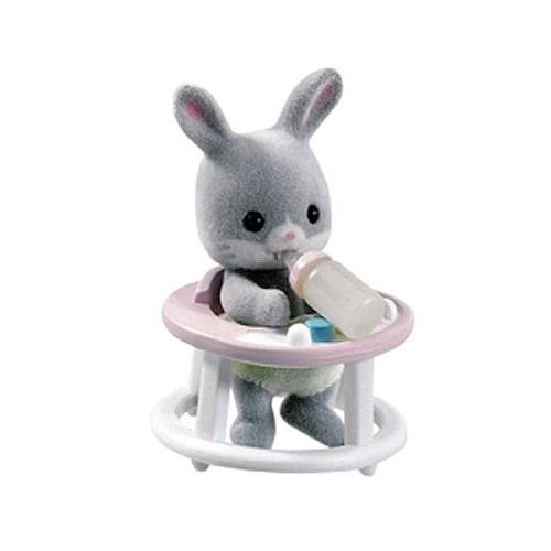 Calico Critters Friends in Mini Carry Cases Bunny and Baby Walker (Calico Carry Case)