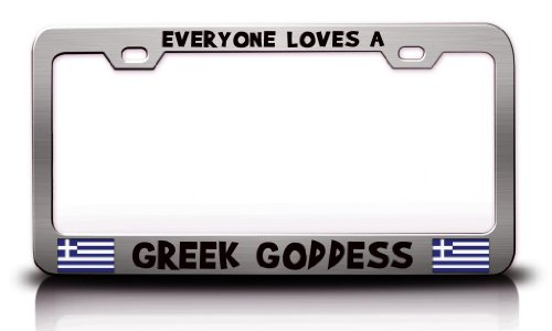 goddess license plate frame - 7
