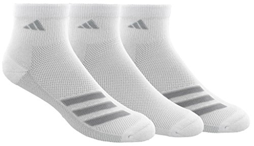 - adidas Men's Climacool Superlite Quarter Socks (3-Pack), Grey/Clear Onix, Size 6-12