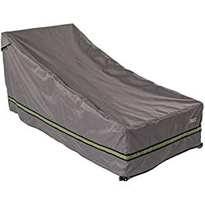 """Duck Covers Soteria Rainproof 80"""" Long Patio Chaise Lounge Cover"""