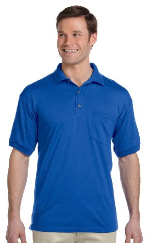 Gildan Mens 5.6 oz. DryBlend 50/50 Jersey Polo with Pocket G
