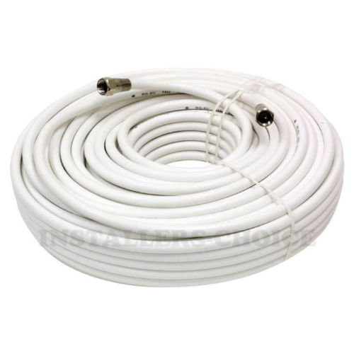 50 FT RG59 COAXIAL DIGITAl AV CABLE FOR SATELLITE TV VCR VIDEO OUTDOOR WHITE - Coaxial 50 Rg59