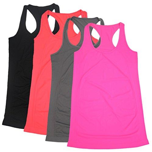 - BollyQueena Women Tanks, Women's Workout Tanks Racerback Tank Tops S Multicoloured