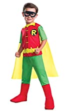 Rubie's 630883-S Boys Dc Comics Robin Costume, Small, Multicolor
