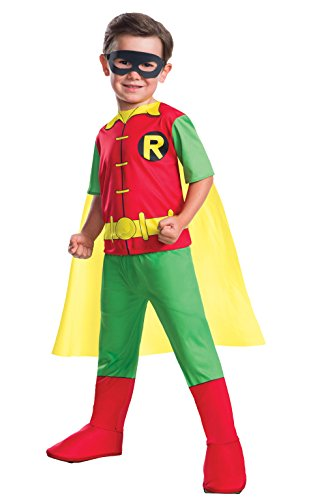 Rubie's 630883-S Boys Dc Comics Robin Costume, Small, Multicolor -
