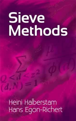 Sieve Methods (Dover Books on Mathematics)