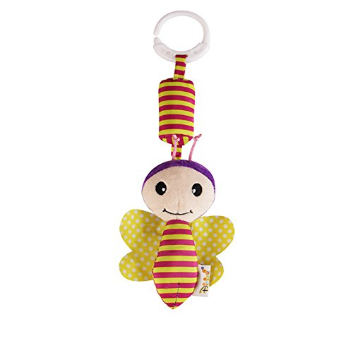 Cute Animal Handed Bells Dolls - Soft Stuffed Hanging Bed Plush Bebe Toys Handbell Alloy Jingle Musical Instrument for Kids,Early Educational Developmental Toys for Baby/Infant/Newborn, 1 Pcs (C)