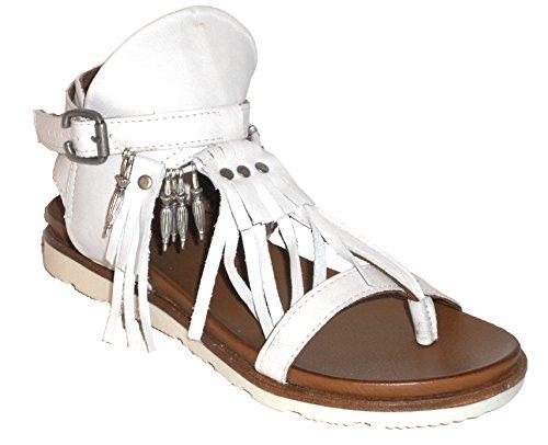 Sandalo Separatore Maca Kitzbühel, In Pelle Bianca Anticata, 2229