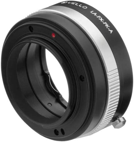 Vello Lens Adapter with Aperture Control Compatible with Pentax K Lens to Fujifilm X-Mount Camera