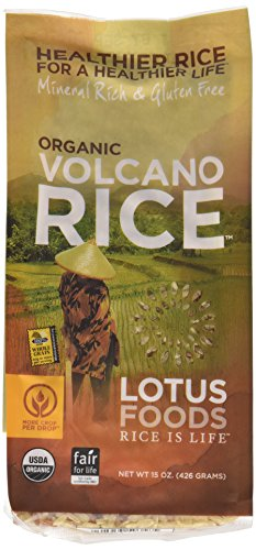 Lotus Foods Gourmet Organic Volcano Rice, 15-Ounce (Pack of 6)