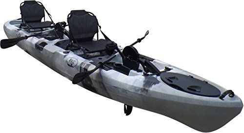 Brooklyn Kayak Company BKC UH-PK14 14 foot Sit On Top Tandem Fishing Pedal Drive Kayak Upright Seats included (Grey Camo)