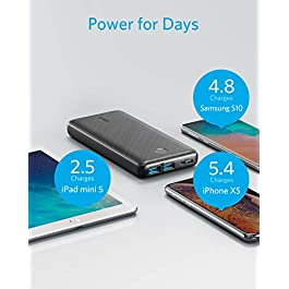 Anker Power Bank, PowerCore Essential 20000 Portable Charger with PowerIQ Technology and USB-C (Input Only), High…