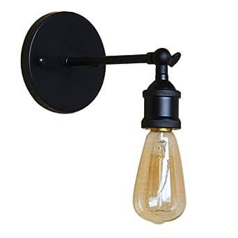 MOOOY La lámpara de pared del metal de la lámpara del LOFT lámpara / el estilo industrial ajusta la lámpara de pared para el cuarto de baño Luces de la vanidad del cuarto de baño(negro)