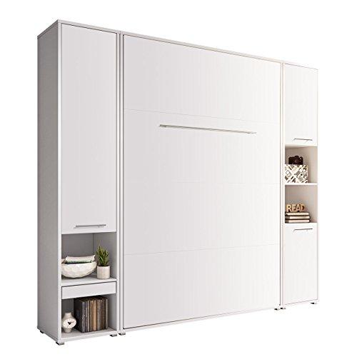 Mirjan24 Dormitorio Juego de Concept Pro I Veraflex y 2estantes Pared, Vertical, Cama con somier de Cama, Armario, Plegable, funcion Cama