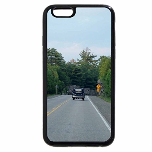 iPhone 6S Case, iPhone 6 Case (Black & White) - In No Hurry