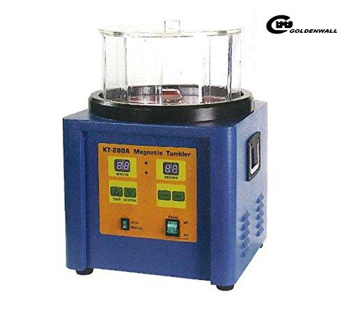 CGOLDENWALL 磁気バレル研磨機 タイマー付 1100g正反転可能な強磁気ポリッシャー デジタル表示 バリ除去 金属磨き シルバー磨き 銀磨き ジュエリー工具 (110V) B078VZV3HK