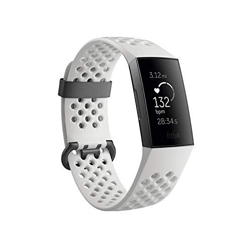 Fitbit Charge 3 SE Fitness Activity Tracker Graphite/White Silicone, One Size (S & L Bands Included) (Fitbit Charge 2 Activity Tracker Heart Rate Small)