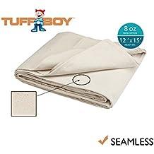 Tuff Boy Cotton Canvas Drop Cloth, Seamless, 12 x 15 Feet, 8 oz