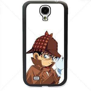 Detective Conan Manga Anime Comic Samsung Galaxy S4 SIV I9500 TPU Soft Black or White case (Black)