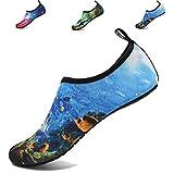 adituo Mens Womens Quick-Dry Water Beach Swim Pool Shoes Aqua Socks for Surf Yoga Water Aerobics US 10.5-11 Men 44-45 sea World