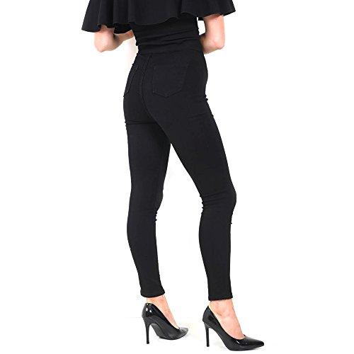 Xelay Femme Jeans Cut Black Skinny Knee OzUqa1Orw