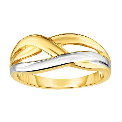 14K Yellow Gold Cross Over X Design Fashion Ring, Size (14k Yellow Gold Crossover)
