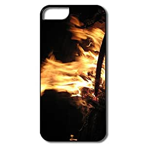 Custom Your Own Sports Non-Slip Jungle Fire Place IPhone 5/5s Case For Family