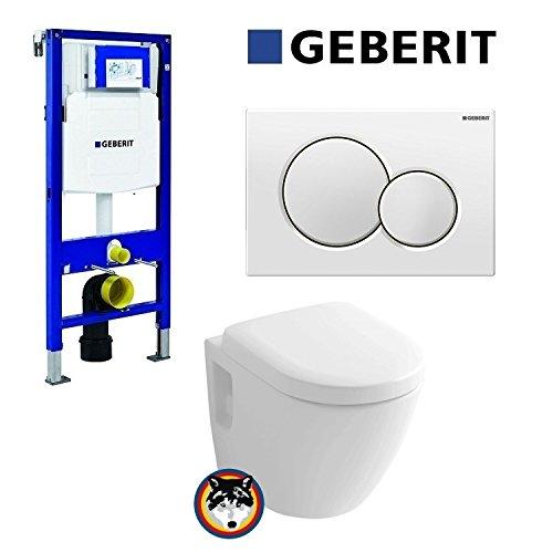 Geberit Duofix UP 320 Vorwandelement mit Sigma01, Toto CW762Y Wand ...