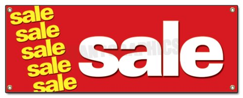 Sale Banner Sign Clearance Retail Sign Signs (Private Property Keep Out Signs For Sale)