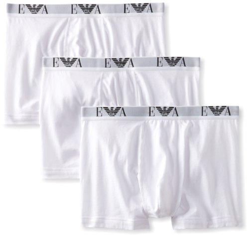 - Emporio Armani Men's Cotton Boxer Briefs, 3-Pack, White, X-Large