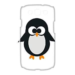 3D [Cute Penguin] Penguin Punch Case For Samsung Galaxy S3 {White}