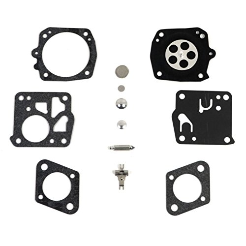 PODOY RK-23HS Carburetor Rebuild Kit For Husqvarna Chainsaw Tillotson 266 268 272 281 288 (Carburetor Tillotson)
