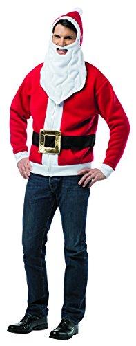 Rasta Imposta Men's Santa Hoodie, Red, (Adult Santa Hoodie)