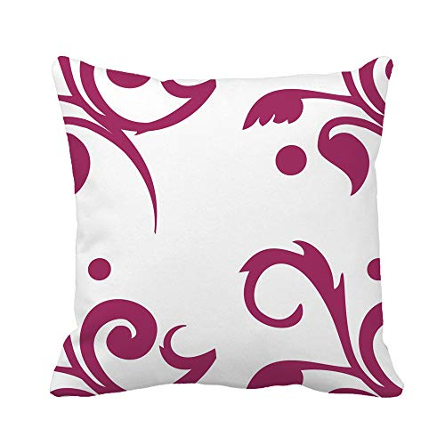(Awowee Throw Pillow Cover Pink Antique Toile Floral Berry Red Baby Cherry Chic 20x20 Inches Pillowcase Home Decorative Square Pillow Case Cushion Cover)