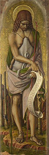 Oil Painting 'Carlo Crivelli Saint John The Baptist ' Printing On Perfect Effect Canvas , 24 X 76 Inch / 61 X 193 Cm ,the Best Dining Room Decor And Home Decoration And Gifts Is This Best Price Art Decorative Prints On Canvas