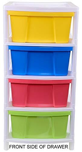 ARISTO Everest Multipurpose Plastic 4-Drawer Rack (38x30x60.90cm, Multicolour)