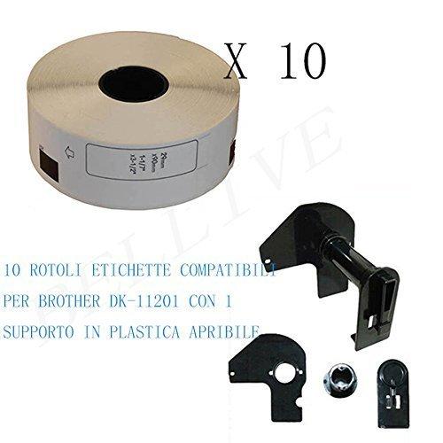 10 Rotoli Etichette Adesive Compatibili per Brother DK11201 DK-11201 29mm X 90mm QL 500 QL 580N QL 500A QL 560 VP//QL 570 QL 650TD con Telaio QL 550