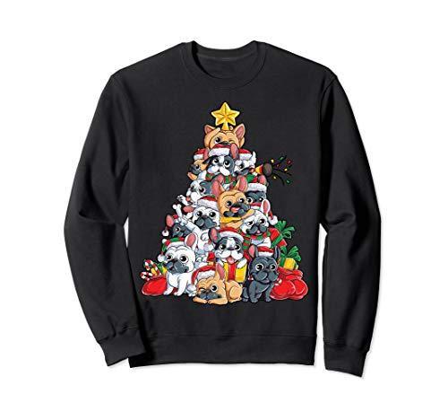 French Bulldog Christmas Sweatshirt Xmas Tree Dog Men - Sweatshirt Adult French Bulldog