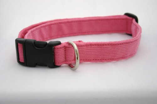 Pink Corduroy Hemp and Certified Organic Cotton Dog Collar Made in the USA Medium, My Pet Supplies