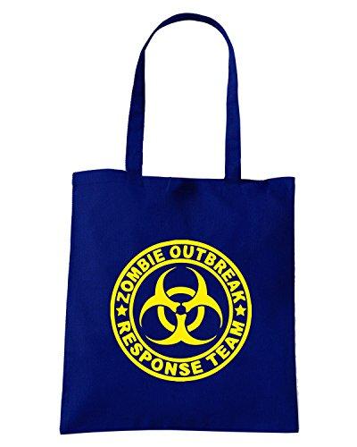 T-Shirtshock - Bolsa para la compra TZOM0027 zombie outbreak response team tshirt Azul Marino