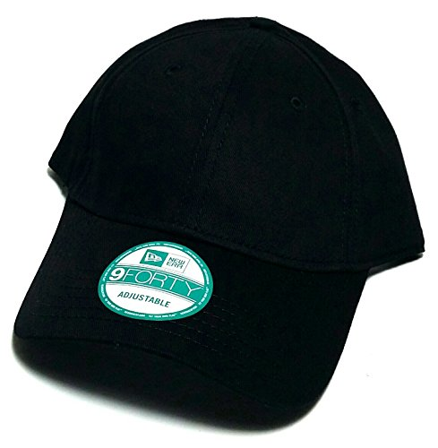 New Era 9Forty RARE Solid Plain Blank Cotton Adjustable Black ... 4a21f258f57